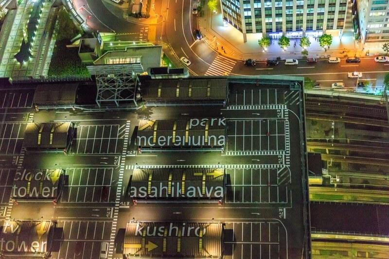札幌駅の屋上