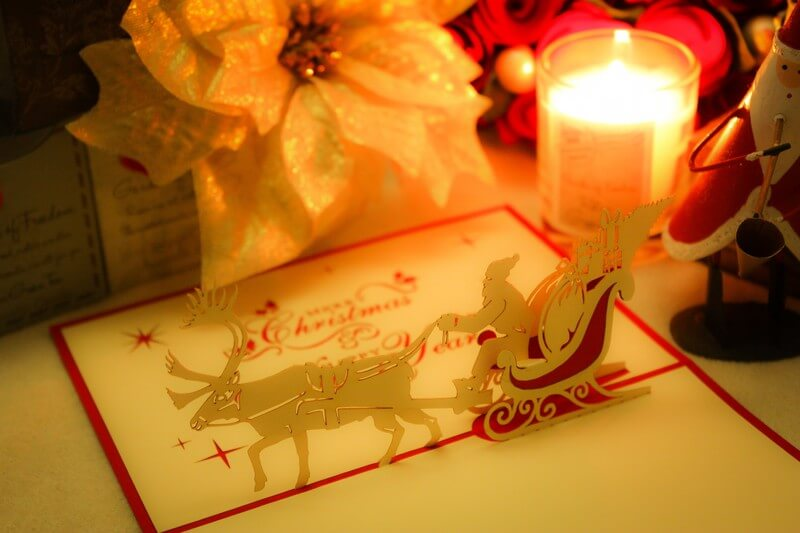 心温まる両親からのクリスマスカード