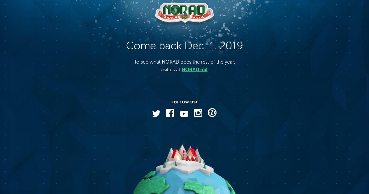MicrosoftとNORADの共同サイト(ノーラッド・トラックス・サンタ)