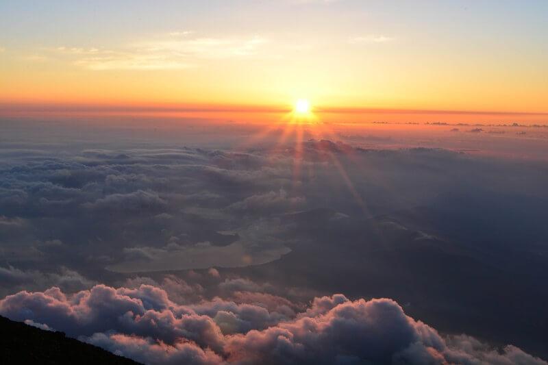 富士山から見る初日の出