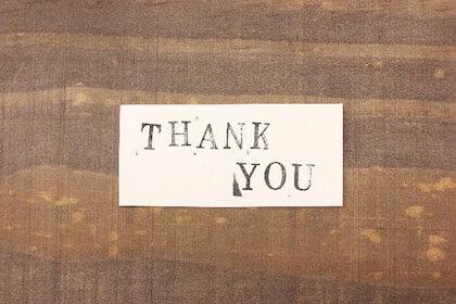 退職者に感謝の気持ちを書いたメッセージカード
