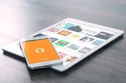 タブレットとスマートフォンで上司のメールに返信