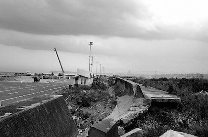 東日本大震災の被災地の風景